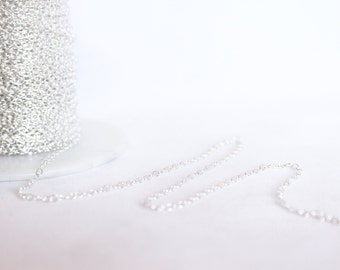 Sterling Silver Chain by the Foot - 1.9mm Round Cable Chain - Medium Chain - Silver Chain - Wholesale Chain - Custom Length / SS-CH002
