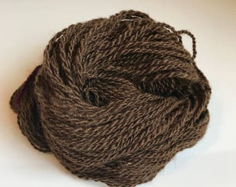 Aran Handspun 2-ply yarn ~ 100% wool from home-raised Finn/Shetland cross Sheep