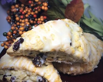 12 Cranberry Orange Scones-Homemade Scones- Breakfast Foods- Tea Time- Tea Party Favors- Tea Food Pairing- Coffee Food Pairing