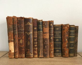 12 antique books from 1800s and early 1900s - Assorted books