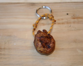 Larch Wood Key Ring