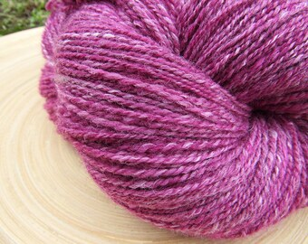 Handspun yarn - merino bamboo hand dyed - 2 ply - 124 grams 437 yards