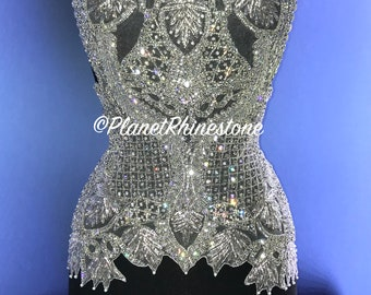 Tania Crystal Beaded Bodice