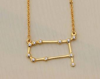 SALE 20% OFF - Gemini Necklace - Zodiac Necklace - Zodiac Signs - Gemini Necklace - Constellation Necklace with Stone - Bridesmaid Gifts