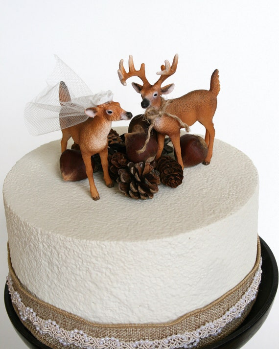 Redneck Cake Topper / Deer Cake Topper / Wedding Cake Topper