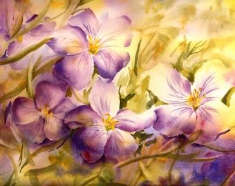 Original Watercolor Art by ConnieTownsArt, Watercolor Flower Painting, Watercolor Original, Watercolor Floral