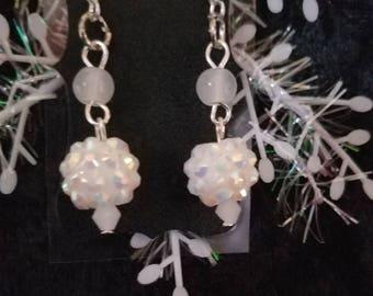 Glittery Snowball earrings