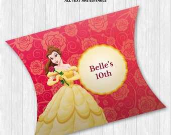 Beauty and the Beast Pillow Boxes