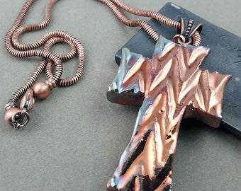Raku Seashell Pendant Necklace