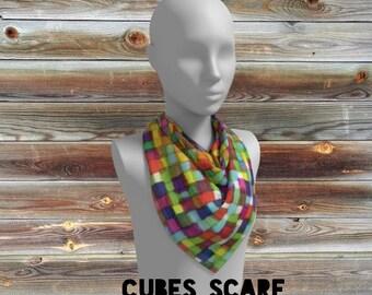 cubes scarf