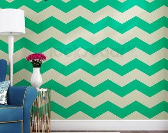 Chevron Wand Streifen Aufkleber Mit Wand Schablone Effekt   15 % Rabatt Für  5 Sätze Oder Mehr   AP0022