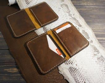 Credit card sleeve / Leather card sleeve / Business card sleeve / Personalised  card case / Slim card case / Leather card holder