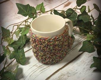 crochet cup cozie/crochet/gift/cup sleeve/ready to ship/crochet/handmade/gift/cozies/crochet coffee cozie/crochet tea cozie/cup cozie