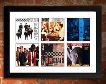 THE SPECIALS Vinyl Albums Limited Edition Unframed Ska Art Print