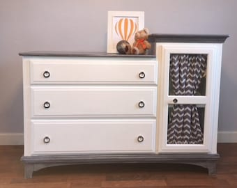 Gorgeous White Dresser/Changing Table With Closet!