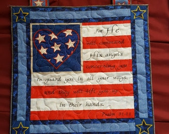 Quilted Wall Hanging - Military