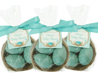 Robin's Egg Nest Favors - Your Choice Color - Shower Favors - Custom Favor