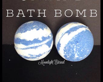 Lavender Bath Bomb - Lavender Chamomile - Relaxing - Handmade Bath Bomb - Unwind Sparkle Bomb Bath Bomb