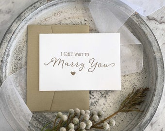 Bride To Groom Card, I Can't Wait To Marry You Card, Groom Gift From Bride, Groom To Bride Card, Wedding Cards, Groom Card, Bride Groom Gift