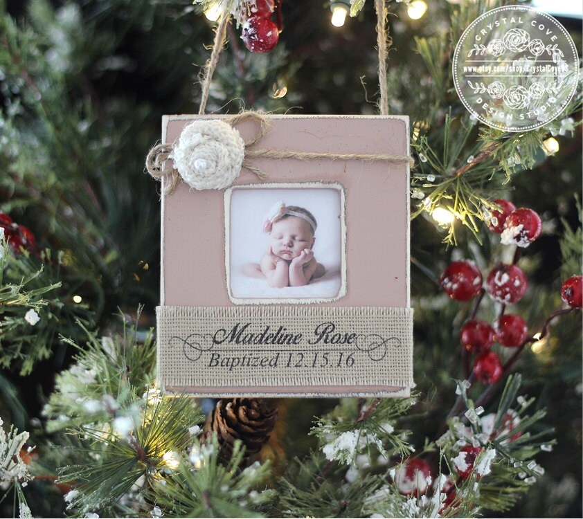 Baptism Ornament Christmas Ornament Personalized Baby