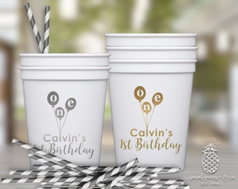1st Birthday Balloon Party Cups