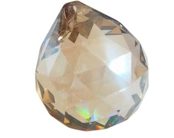 40mm Champagne Faceted Ball Chandelier Crystal Prisms