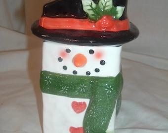vintage porcelain snowman vase