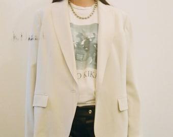 Modern Ivory Blazer Suit Jacket