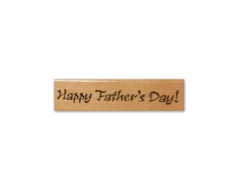 Happy Father's Day mounted rubber stamp, Fathers Day, dad, brush stroke CM5