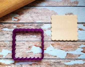 Scalloped Square Cookie Cutter and Fondant Cutter and Clay Cutter