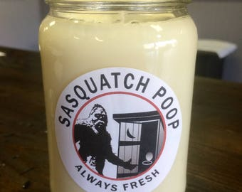 Sasquatch Poop Scent Soy Wax Candle, Handmade Candle, Hand Poured Soy Candle, Soy Candle, Bigfoot Candle, Poop Candle, Chocolate Candle