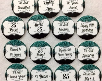Set Of 50 100 150 200 Personalized 85th Birthday Party 1 Inch Circle Confetti