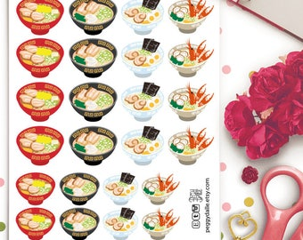 Ramen Planner Stickers | Erin Condren | Kikki K | Filofax | Japanese Food | noodles | Asian Cuisine
