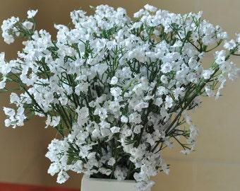 30 pcs Silk Babys breath For Bridal Bouquet Flowers White Babysbreath Wedding Decorative Flowers Home Decor CJ-MTX