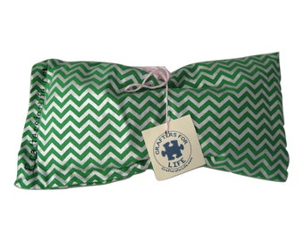 Green Chevron Lavender Eye Pillow