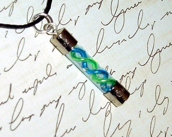 Resident Evil - Blue and Green Mixed Virus Charm Necklace