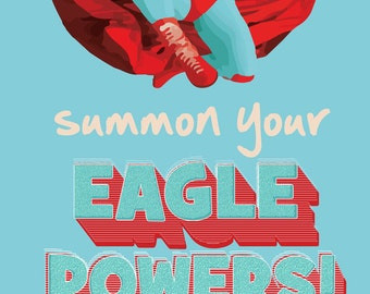 Summon your eagle powers nacho libre. instant download jpeg