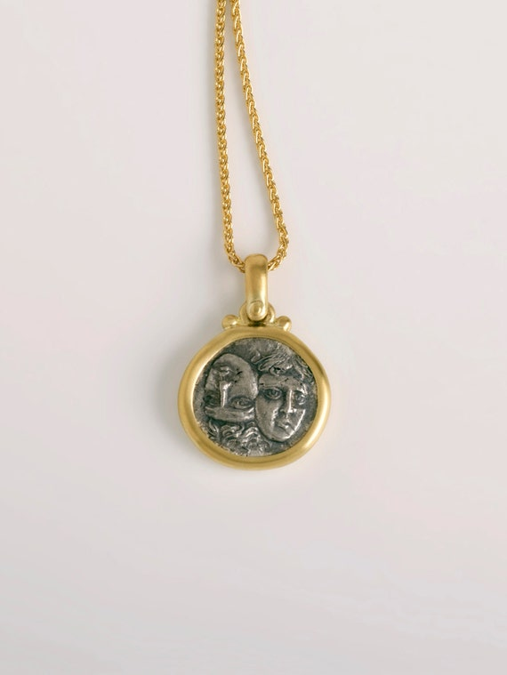 Istros greek coin pendant sterling silver coin pendant mozeypictures Images