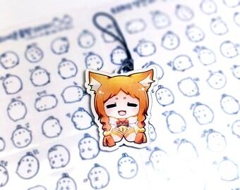 "Re:zero | Mimi Pearlbaton | Acrylic Charm Keychain | 2.4"" double sided kawaii chibi gift"