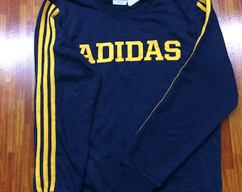 Vintage Adidas big logo sweatshirt blue black!!!