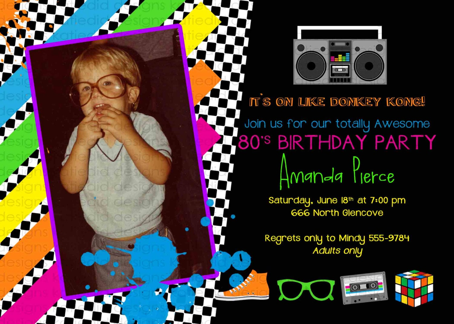 80s party invitation Stock the bar couples shower Totally 30th 40th ...