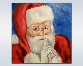 Santa Claus Christmas ornaments Christmas decoration Christmas Oil Painting Christmas wall decor