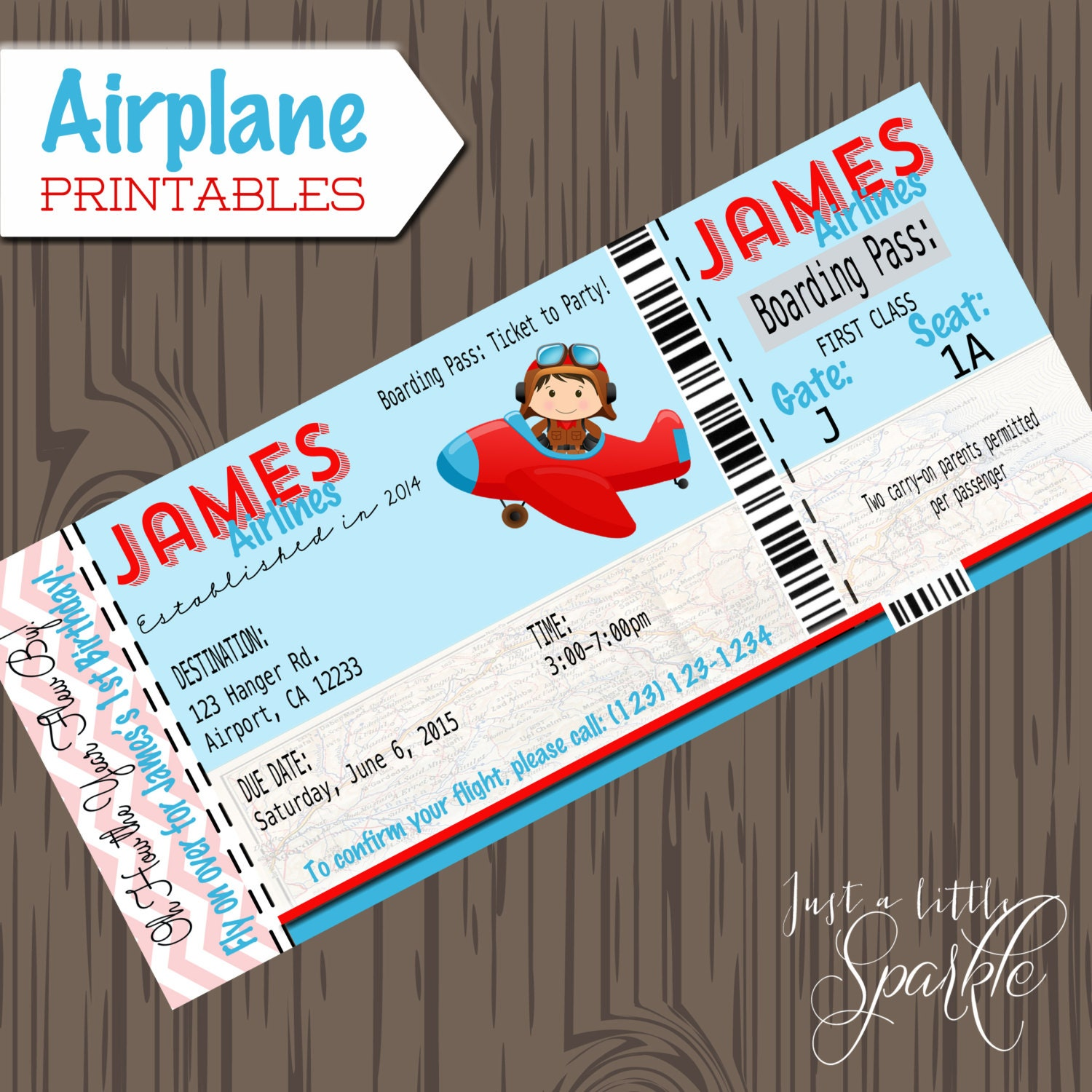 Airplane Boarding Pass Invitation - Amazing Invitation Template ...