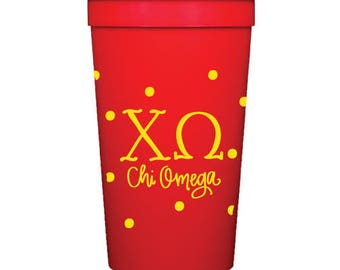 Chi Omega Stadium Cup with Dots