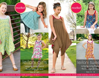 Leilani Girls and Tween/Teen PDF Pattern Bundle by MODKID - Instant Digital Download - Buy 2 and SAVE!
