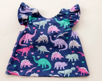 Little Girl Dinosaur Top, Toddler Girl Clothes, Dinosaur Clothes, Baby Girl Clothes, Girly Dinosaurs, Baby Dino, Dinosaur Birthday Outfit