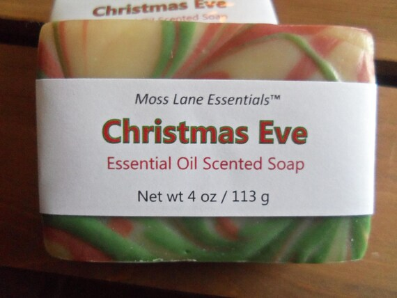 Christmas Eve--Evergreen, Orange and Spice Essential Oil Scented Cold Process Soap with Shea Butter
