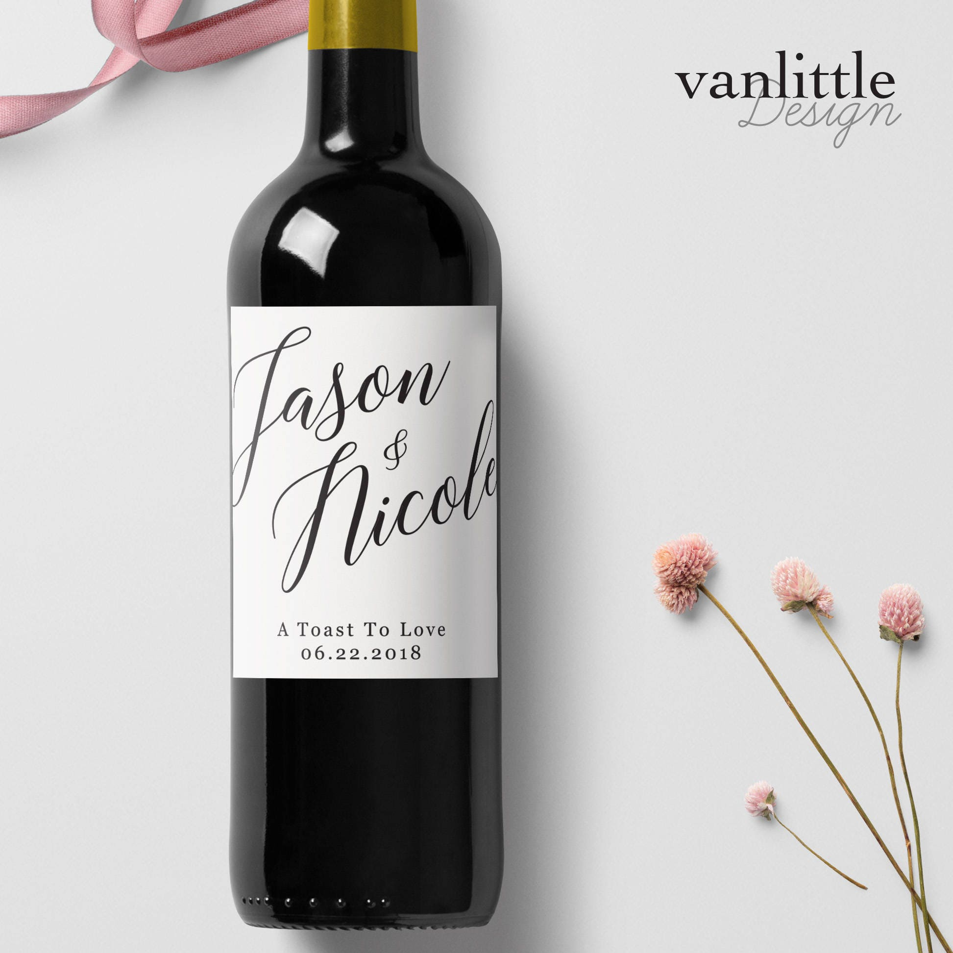 Wine Wedding: Custom Wedding Wine Labels Personalized Wine Label With