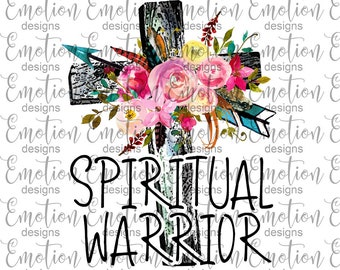 Spiritual Warrior PNG, instant download, Sublimation Graphics, Clipart