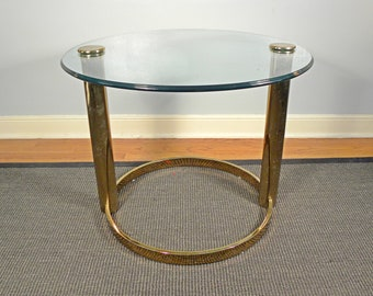 Vintage Mid Century Hollywood Regency Gold Accent Table